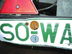 grünes Kennzeichen (zugegebenermaßen arg benutzt)