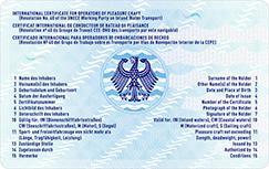 Scheckkartenformat SBF (Rückseite) - Quelle: Bundesdruckerei