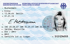 Scheckkartenformat SBF (Vorderseite) - Quelle: Bundesdruckerei