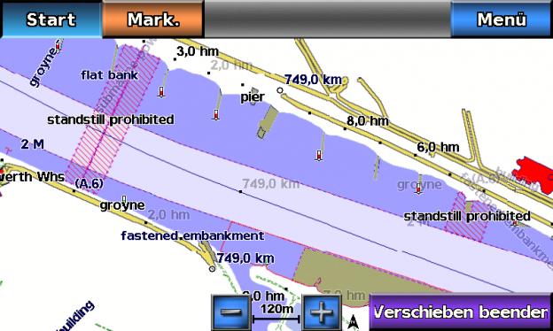 ENC Seekarte auf Garmin GPSMap 620
