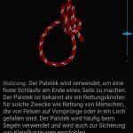 Palstek (Bildquelle: App Knoten 3D)