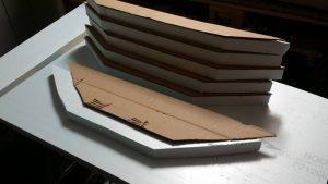 Pappschablonen auf Styrodur übertragen