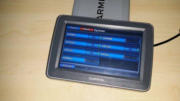 NMEA0183 Sentences auf einem Garmin GPSMap620